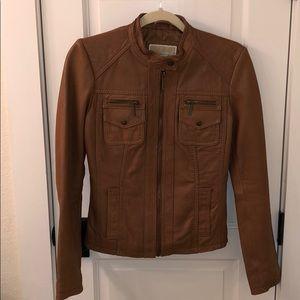 Michael Kors Tan Leather Jacket